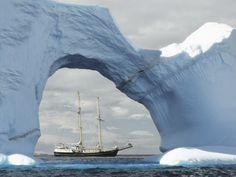 Navei în Antarctica