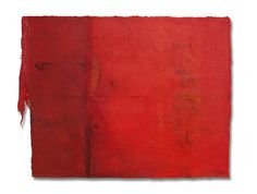 """""""untitled"""" mix media on cotton wool,size:24''x30''.2009.sold."""
