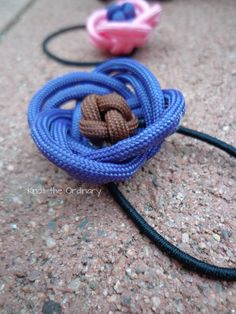 Paracord hair ties