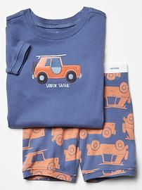 Surf car short sleep set
