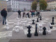 Human chess in Salzburg