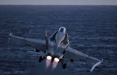 An F/A-18C Hornet launches. by Official U.S. Navy Imagery, via Flickr
