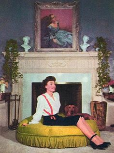 Joan at her Brentwood home 1944.