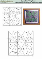 View Square 4 Iris Folding Pattern Details - would be great for a quilt block