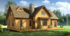 $27,000 Majestic Log Home Has a Perfect Floor Plan Design That You Don't Want to…