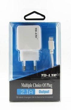Cargador Enchufe Pared Universal Con Doble Puerto USB y Más Cable MicroUSB - http://complementoideal.com/producto/cargador-enchufe-pared-universal-con-doble-puerto-usb-y-m%c3%a1s-cable-microusb/  -  Podrás cargar hasta 2 dispositivos al mismo tiempo gracias al doble puerto USB Cargador compatible con productos Android e IOS Soporta carga de dispositivos grandes: iPad, Galaxy Tab, Xperia Tab, etc., gracias a los 2.1A de potencia que trae. Además viene con un cable de