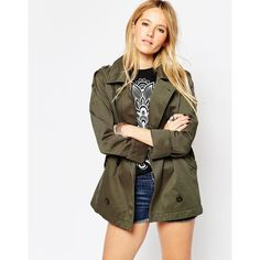 ASOS Shacket with Military Detail (£52) via Polyvore