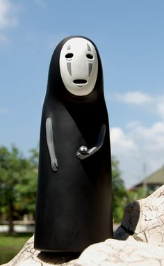 Spirited Away NO FACE Studio Ghibli Doll / Model / Figure (holding Kurosuke)