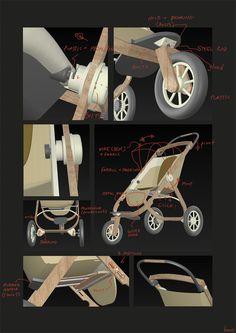 YorGo Modular plywood stroller on Behance