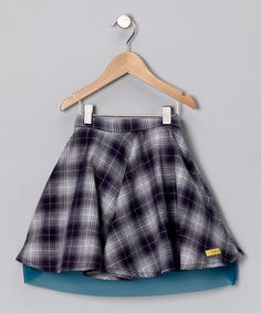Blue Plaid Skirt - Infant, Toddler & Girls by Pineapple Kiss on #zulily today!  #zulily  #fall - great with the gray cardigan