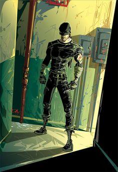 Cut Man / Daredevil by Dejan Delić / Marvel Comic Universe, Comics Universe, Marvel Dc Comics, Marvel Heroes, Illustration Comic, Illustrations, Comic Book Characters, Marvel Characters, Daredevil Punisher