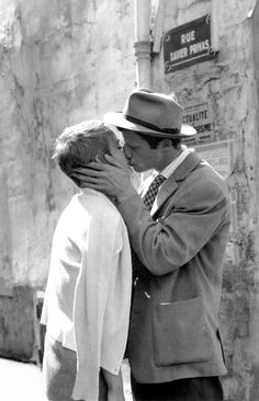 "mimbeau: "" Jean-Paul Belmondo and Jean Seberg ""A bout de souffle"" Paris 1960 """