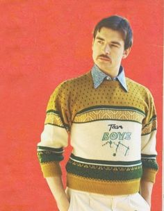 Vintage knitwear and ad. Mans World, 80s Fashion, Christmas Sweaters, Knitwear, Russia, Polo Ralph Lauren, Retro, Stylish, Boys