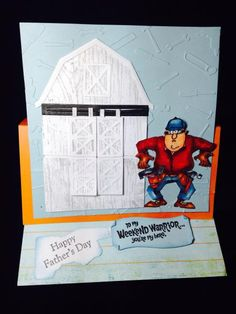 Art Impressions: Ai Heroes: Weekend Warrior Set: handmade masculine Father's Day card.