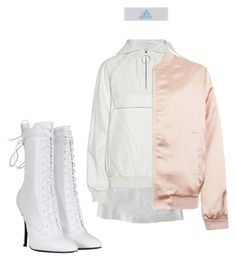 """""""Gogo"""" by astrro on Polyvore featuring R13, Balmain, Alexander Wang, Cameo Rose and adidas"""