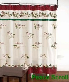 Peace Scroll Shower Curtain Hook Set