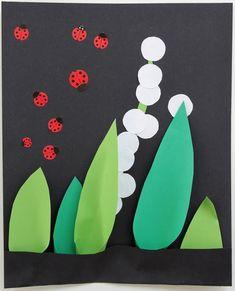 Le Journal de Nounou Sophie: Un tableau pour la fête du muguet Journal, Lily Of The Valley, Board, Journals