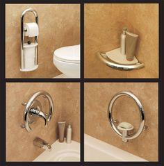 Decorative Bathroom Safety Accessories Toilet Roll, Corner Shelf, Valve Ring, Soap Dish