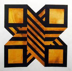 "Artist: Jules Engel Title: untitled 4 Year: circa 1970 Medium: Acrylic on Paper Size: 14"" x 14"""