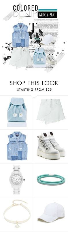 """you rock witches baby blue"" by wdysty ❤ liked on Polyvore featuring Sugarbaby, Sandy Liang, MANGO, Puma, GUESS, Design Lab, Sole Society, casual, white and Blue"