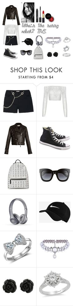 """""""Sassy Rebel"""" by chrismica on Polyvore featuring Miaou, The Row, Converse, MCM, Gucci, NIKE, WithChic, Disney, Christian Dior and Concrete Minerals"""