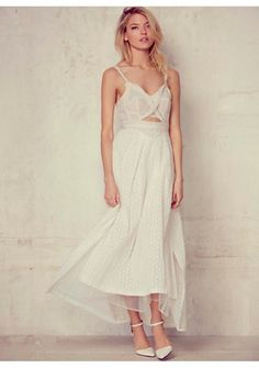 Free People Womens LE GIANNAS WHITE DRESS