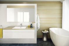 #Rifco Acqua 900 vanity with Blackbutt top & @Roca Diverta inset basin