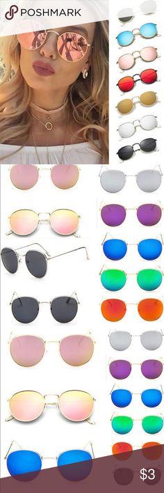 Uni-Gender Sunglasses New Vintage Retro Mirror sunglasses for men and women. Accessories Glasses
