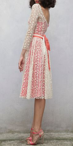 Lovely lace dress / Luisa Beccaria