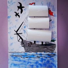 Crafts,Actvities and Worksheets for Preschool,Toddler and Kindergarten.Lots of worksheets and coloring pages. Pirate Ship Craft, Pirate Crafts, Pirate Art, Pirate Theme, Projects For Kids, Art Projects, Crafts For Kids, Arts And Crafts, Drawing For Kids