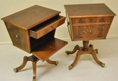 out of my price range, but so nice, Pair of 1920's Grosfeld House tables by andfoundfurnishings, $5800.00