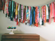 DIY Scrap Fabric Garland from Handmade Charlotte
