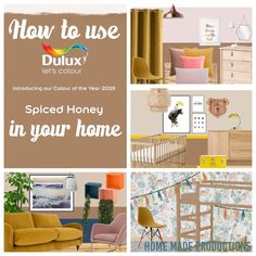 Last week Dulux announced their colour of the year Spiced Honey. It's a lovely warm colour which makes you want to snuggle up at […] Dulux Paint Colour Of The Year, Dulux Paint Colours, Warm Paint Colors, Paint Colors For Home, Color Of The Year, House Colors, Colour Pallete, Color Schemes, Stair Walls