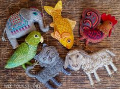 Posts about Felt written by Salley Mavor Fabric Animals, Felt Animals, Needle Felted Animals, Needle Felting, Coin Couture, Felt Embroidery, Felt Christmas Ornaments, Tiny Dolls, Wool Applique