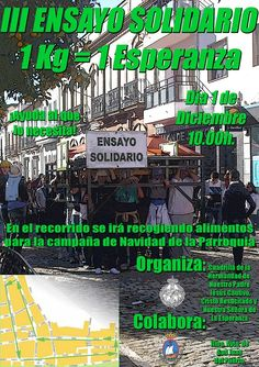 III Ensayo Solidario en San Juan del Puerto (Huelva). Se recogerán alimentos durante el recorrido. Gracias por colaborar.