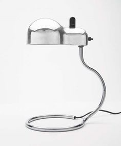 Joe Colombo; Chrome Plated and Lacquered Steel 'Topo' Table Lamp for Stilnovo, c1970.