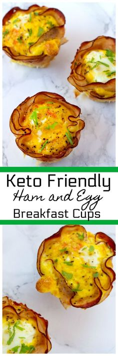 Ham and Egg breakfast cups are made in a muffin pan