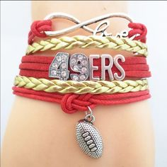 49ers football bracelet(NWT)5 left Very cute! Makes a great gift. Brand new in package. Price firm unless bundled Jewelry Bracelets