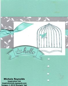 Badges & banners hello birdcage watermark