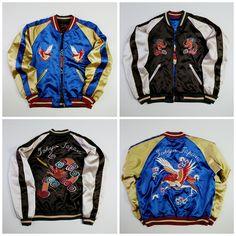 TOKYO JAPAN Vintage Tailor Toyo Enterprises Japanese Dragon Ryu Eagle Hawk Taka Washi Tattoo Art Embroidery Embroidered Bomber Sukajan Souvenir Jacket