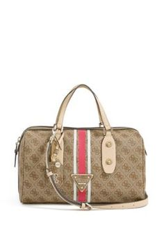 Logo Sport Brown Box Satchel | GUESS.com