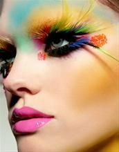 Avant Garde! love the of colours.  stopping to think about it I want my face painted and run away with the circus