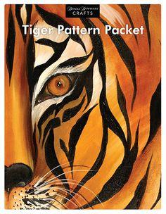 wOil Tiger Pattern Packet  www.dewberrycrafts.com