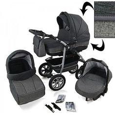 NEW! Pram / Baby Stroller / Pushchair 3 in 1 TRAVEL SYSTEM Moretti ...