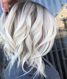10 trendy ombre and balayage hairstyles for shoulder length hair - my hairstyle . - 10 trendy ombre and balayage hairstyles for shoulder length hair – my hairstyles – stylish ombr - Best Ombre Hair, Brown Ombre Hair, Ombre Hair Color, Blonde Ombre, Blonde Balayage, Ombre Bob, White Blonde, Black Roots Blonde Hair, Blonde Ends