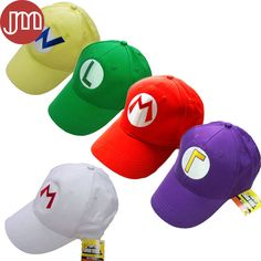 c34934d77383 Aliexpress.com   Buy New 1 PCS Super Mario Bros Luigi Baseball Hat  Adjustable Cosplay Embroidery Sun Cap Red Green Yellow White Purple from  Reliable track ...