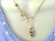 Two Peas In A Pod Personalized Lariat Style by ThePeasInAPodShop, $26.50