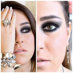 #makeup #instamakeup #black #smokeyeyes #stud #bracelets #studdedbracelets #skull #accessorize #igaddicted #instafashion #fotd #faceoftheday #luigia #luisa