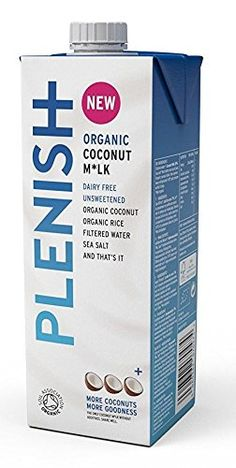 Plenish Organic Coconut Milk 1 Litre (Pack of * More info could be found at the image url. Organic Coconut Milk, Coconut Cream, Coconut Water, Coconut Drinks, Healthy Drinks, Gifts For Him, Dairy Free, Packing, Perfume