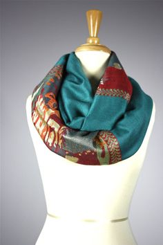 Teal  infinity scarf pashmina infinity scarf by ScarfObsession, $29.00